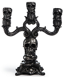 CLOSEOUT! Martha Stewart Collection Halloween Skeletons Candle Holder Decoration, Created for Macy's