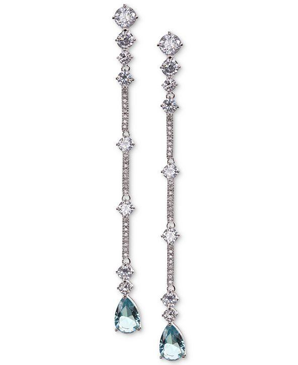 Nina Cubic Zirconia & Stone Linear Drop Earrings
