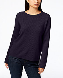 Eileen Fisher Scoop-Neck Cashmere Sweater, Regular & Petite