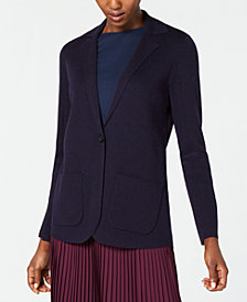 Eileen Fisher Notch-Collar Cardigan, Regular & Petite