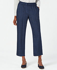 Eileen Fisher Printed Cropped Silk Pants, Regular & Petite