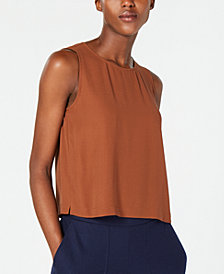 Eileen Fisher Silk Crewneck Shell