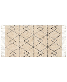 "Nourison Geometric Art 27"" x 45"" Moroccan Shag Accent Rug Collection"