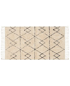 "Nourison Geometric Art 27"" x 45"" Moroccan Shag Accent Rug Collection"