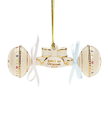 Lenox 2018 Baby's 1st Christmas Rattle Ornament