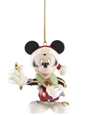 2018 Merry And Bright Mickey Ornament