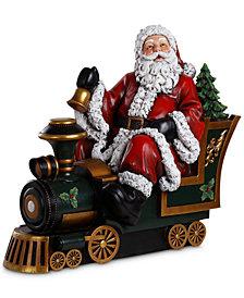 Napco Santa in Train Figurine