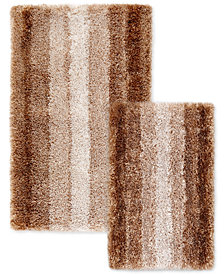 Sunham Silkken 2-Pc. Ombré Stripe Bath Rug Set