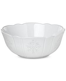 Alpine  Carved Serving Bowl