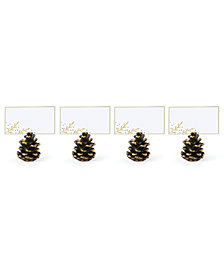Lenox Alpine Pinecone Place Card Holders, Set of 4