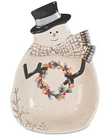 Wintry Woods Snowman Serve Bowl