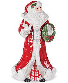 Fitz and Floyd Tartan Christmas Santa Figurine