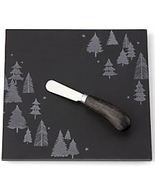 Lenox Balsam Lane  Slate Cheeseboard & Knife