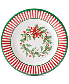 Lenox Holiday Holiday Stripe Melamine Accent Plates, Set of 4