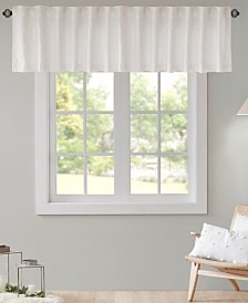 "Urban Habitat Brooklyn 50"" x 18"" Cotton Jacquard Pom Pom Rod Pocket/Back Tab Window Valance"