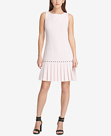 DKNY Drop-Waist Pleated Dress, Created for Macy's