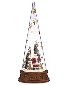 Lenox Merry & Magic Lit Glass Santa Scene