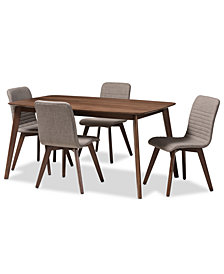 Zucker 5-Pc. Dining Set, Quick Ship