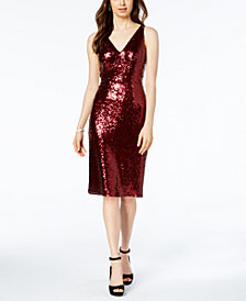 Nightway Petite Sequin Sheath Dress