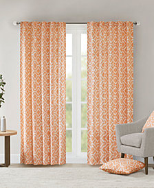 "Madison Park Delray Diamond-Print 42"" x 95"" Twill Window Panel"
