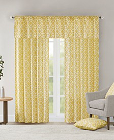 Delray Diamond-Print Twill Window Treatment Collection
