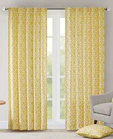 "Madison Park Delray Diamond-Print 42"" x 84"" Twill Window Panel"