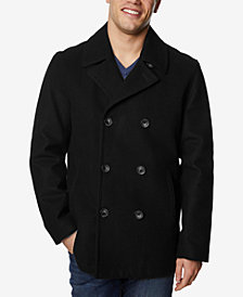 Nautica Men's Big & Tall Three-Button Pea Coat