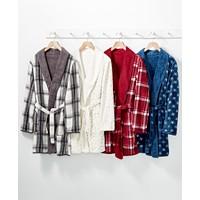 Macys deals on Martha Stewart Collection Martha Stewart Reversible Plush Robe