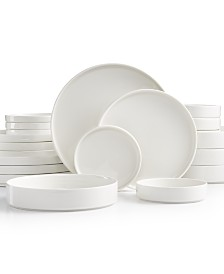 CLOSEOUT! Goodful™ Stackable White 20-Pc. Dinnerware Set, Service for 4