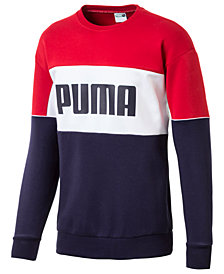 Puma Men's Colorblocked Relaxed Sweatshirt
