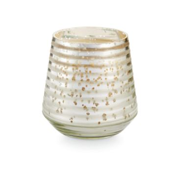 Holiday Small Etched Glass Candle