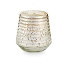 Illume Holiday Small Etched Glass Candle