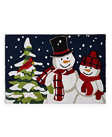 "Martha Stewart Collection Snowmen 20"" x 30"" Accent Rug, Created for Macy's"