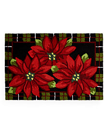 CLOSEOUT! Martha Stewart Collection Poinsettia Accent Rug Collection, Created for Macy's