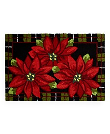 Martha Stewart Collection Poinsettia Accent Rug Collection, Created for Macy's