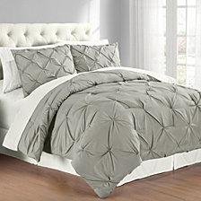 Premium Collection Full/Queen Pintuck Bedding Comforter Set