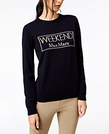 Weekend Max Mara Manu Cashmere Graphic Sweater