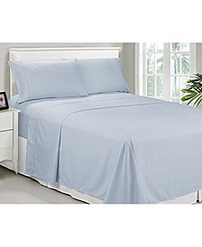Caribbean Joe Microfiber Full Solid Sheet Set