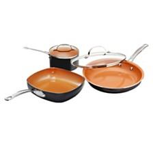 Gotham Steel 5-Pc. Round Cookware Set