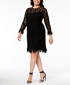 Calvin Klein Plus Size Lace Dress