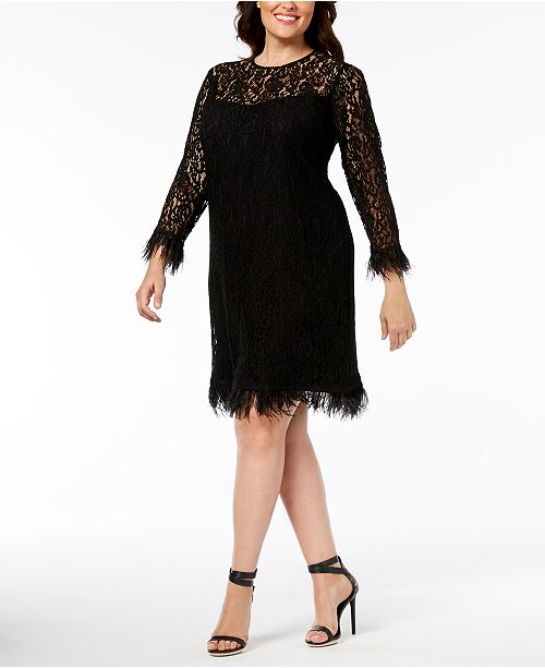 Calvin Klein Plus Size Lace Dress & Reviews - Dresses - Macy\'s