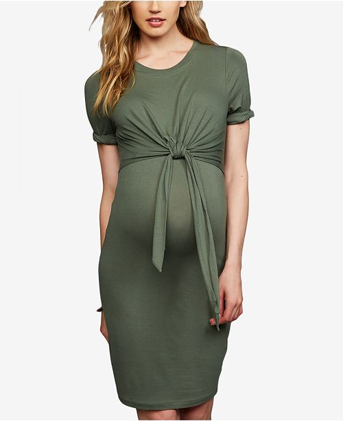 208423655fe19 A Pea in the Pod Maternity Tie-Front Dress & Reviews - Maternity ...