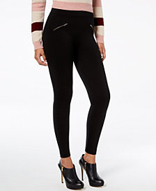 HUE® Moto Brushed Seamless Leggings