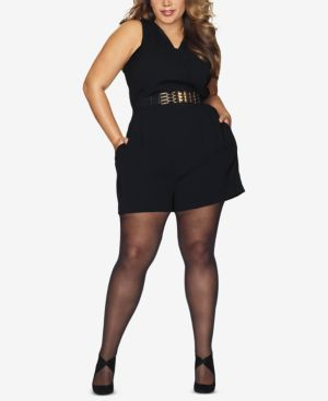 Hanes Plus Size Black Out Tights 6653027