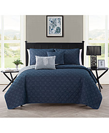 VCNY Home Hayden Reversible 5-Pc. King Quilt Set
