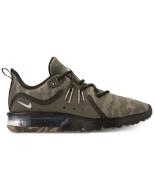 955109c49c5b Nike Men s Air Max Sequent 3 Premium Camo Running Sneakers   Reviews ...