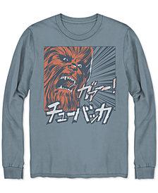 Men's Long-Sleeve Chewbacca Graphic T-Shirt