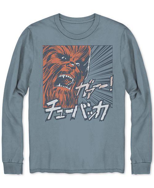 3ffde866a23 Hybrid Men s Long-Sleeve Chewbacca Graphic T-Shirt   Reviews - T ...