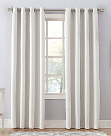 "Sun Zero Corinne 52"" X 63"" Woven Geometric Blackout Lined Grommet Curtain Panel"