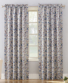 "Sun Zero Isabella 54"" X 95"" Floral Print Room Darkening Rod Pocket Curtain Panel"